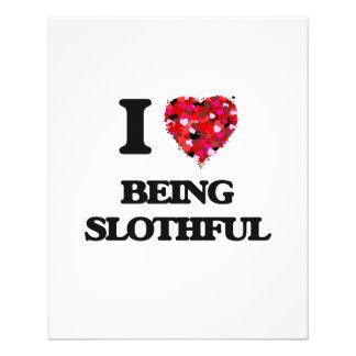 I love Being Slothful 11.5 Cm X 14 Cm Flyer