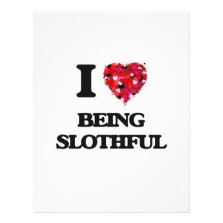 I love Being Slothful 21.5 Cm X 28 Cm Flyer