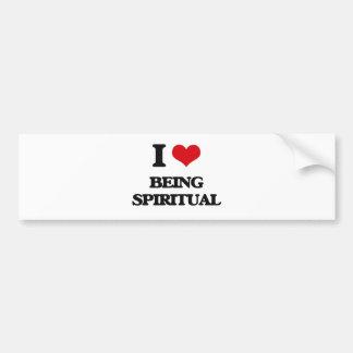 I love Being Spiritual Bumper Sticker