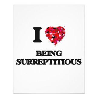 I love Being Surreptitious 11.5 Cm X 14 Cm Flyer