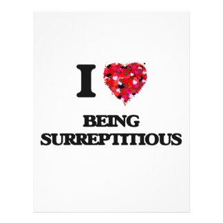 I love Being Surreptitious 21.5 Cm X 28 Cm Flyer