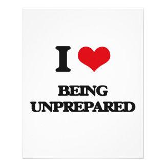 I love Being Unprepared 11.5 Cm X 14 Cm Flyer