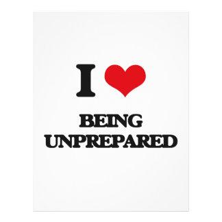 I love Being Unprepared 21.5 Cm X 28 Cm Flyer