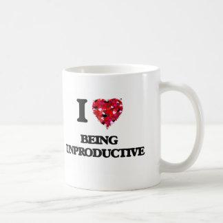 I love Being Unproductive Basic White Mug
