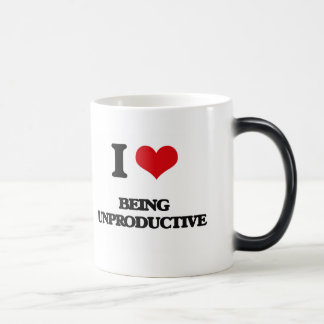 I love Being Unproductive Morphing Mug