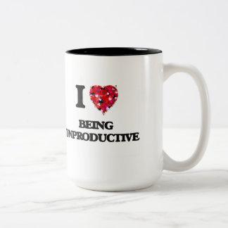 I love Being Unproductive Two-Tone Mug