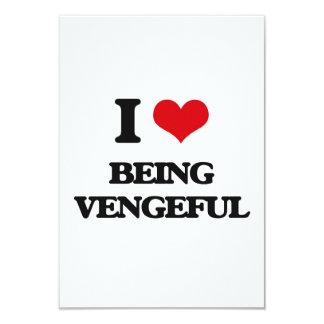 "I love Being Vengeful 3.5"" X 5"" Invitation Card"