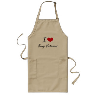 I love Being Victorious Artistic Design Long Apron