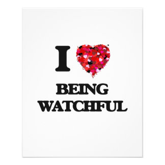 I love Being Watchful 11.5 Cm X 14 Cm Flyer