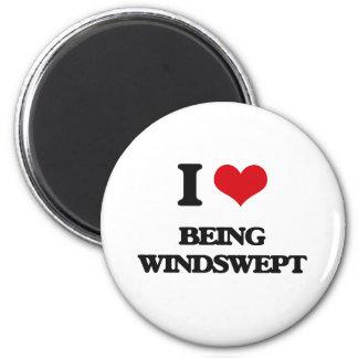 I love Being Windswept Fridge Magnet