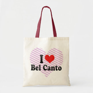 I Love Bel Canto Tote Bag