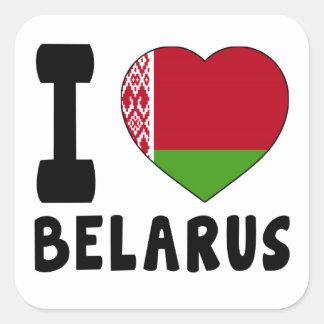 I Love Belarus Square Sticker