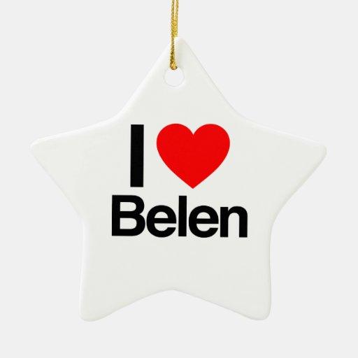 i love belen christmas tree ornament