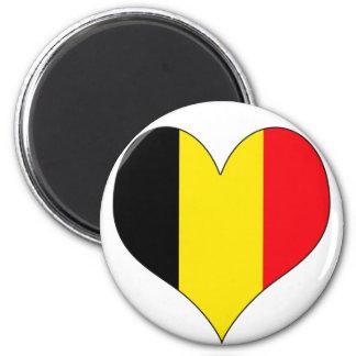 I Love Belgium 6 Cm Round Magnet