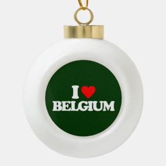 I LOVE BELGIUM CERAMIC BALL DECORATION