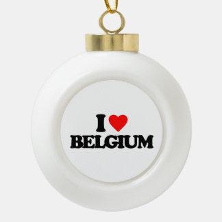 I LOVE BELGIUM ORNAMENTS