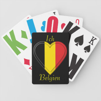 I love Belgium - Ich liebe Belgien - in German Bicycle Playing Cards