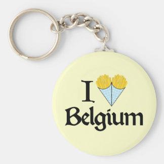 I Love Belgium Key Ring