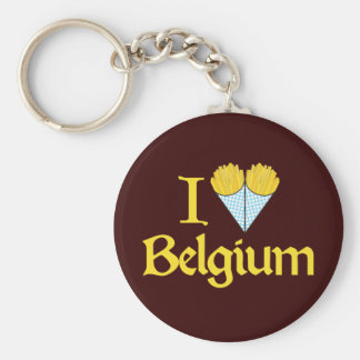 I Love Belgium Key Ring