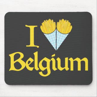 I Love Belgium Mouse Mat