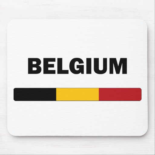 I Love Belgium Mouse Pads