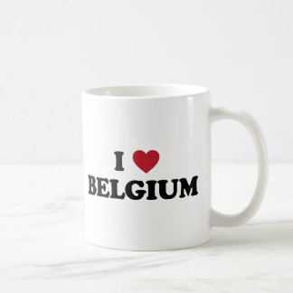 I Love Belgium Classic White Coffee Mug