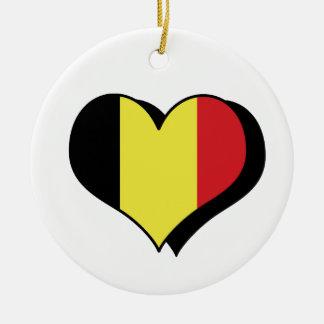 I Love Belgium Ornament