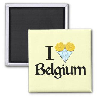 I Love Belgium Square Magnet
