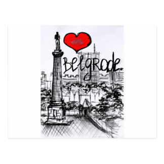 I love Belgrade Postcard