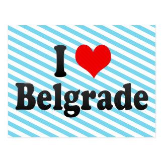 I Love Belgrade, Serbia Postcard
