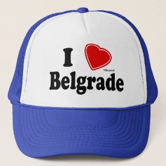 I Love Belgrade Trucker Hat