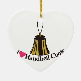 I Love bell Choir Christmas Ornament