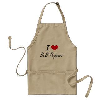 I Love Bell Peppers artistic design Standard Apron