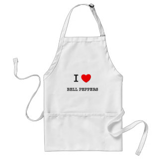 I Love BELL PEPPERS ( food ) Aprons