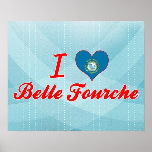 I Love Belle Fourche, South Dakota Poster
