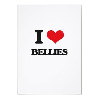I Love Bellies 13 Cm X 18 Cm Invitation Card