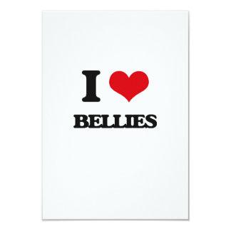 I Love Bellies 9 Cm X 13 Cm Invitation Card