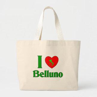 I Love Belluno Italy Jumbo Tote Bag