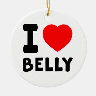 I Love Belly dance Round Ceramic Decoration
