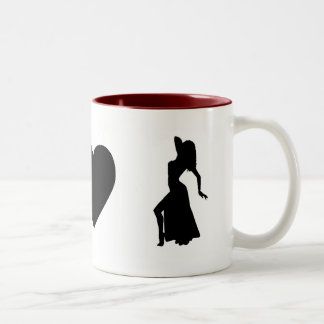 I love bellydance Two-Tone coffee mug