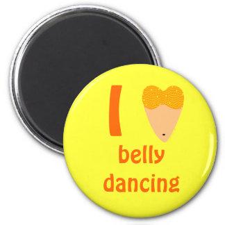 I Love Bellydancing Dancer Torso (I Heart) 6 Cm Round Magnet