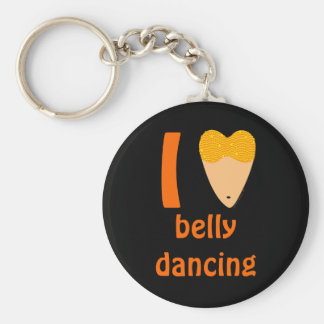 I Love Bellydancing Dancer Torso (I Heart) Basic Round Button Key Ring
