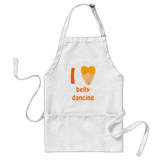 I Love Bellydancing Dancer Torso (I Heart) Standard Apron