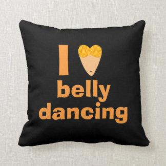 I Love Bellydancing Heart Torso Fun Custom Pillow Throw Cushion