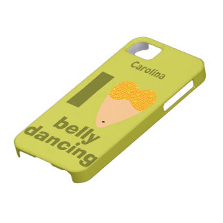 I Love Bellydancing Whimsical Custom Name iphone 5 iPhone 5 Case