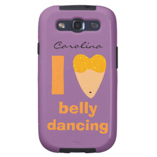I Love Bellydancing Whimsical Dancer Samsung Cover Samsung Galaxy SIII Case
