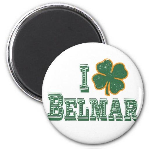 I love Belmar - St. Patrick's Day Magnet