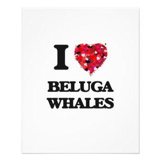 I love Beluga Whales 11.5 Cm X 14 Cm Flyer