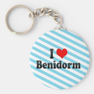 I Love Benidorm, Spain Basic Round Button Key Ring
