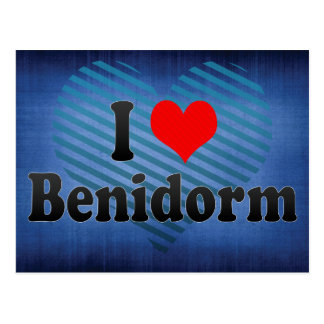 I Love Benidorm, Spain Postcard